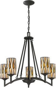 Dale Tiffany Candella 5-Light Pendant Textured Bronze TH12452