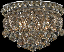 Carmen Crystal Flush Mount Antique Bronze