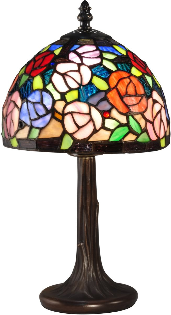 Carnation Tiffany Accent Lamp Antique Bronze