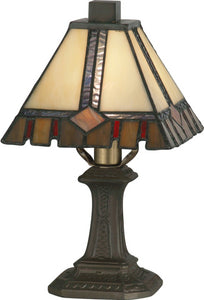 Castle Cut 1-Light Accent Lamp Antique Bronze