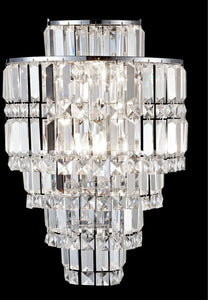 Dale Tiffany Cathedral Crystal Wall Sconce Antique Bronze GW13348