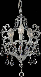 Dale Tiffany Buchanon 3-Light Chandelier Polished Chrome GH70379