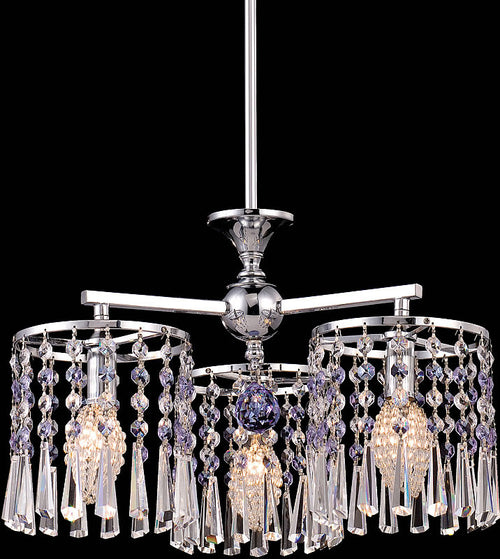 Dale Tiffany Paddington 3-Light Chandelier Chrome GH80291