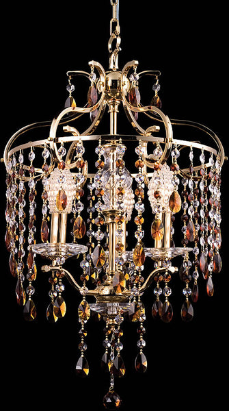 Dale Tiffany Champagne 3-Light Chandelier Gold GH80300