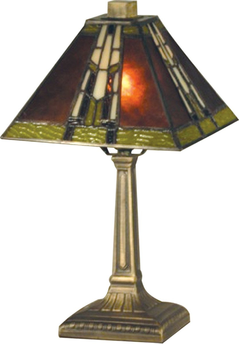 "14""H Charwood 1-Light Table Lamp Antique Bronze"
