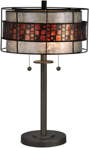 Dale Tiffany Cobblestone Tiffany Table Lamp Antique Bronze TT13199