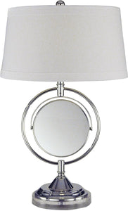 Dale Tiffany Contessa 1-Light Table Lamp Chrome PT12301