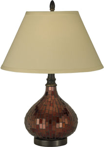 Dale Tiffany 1-Light 3-Way Tiffany Table Lamp Dark Antique Bronze PG10618