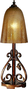 Dale Tiffany 1-Light Art Glass Table Lamp Antique Pewter/Gold PT100529
