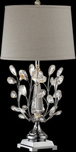 Dale Tiffany Crystal Blossom Crystal Table Lamp Antique Bronze GT14325