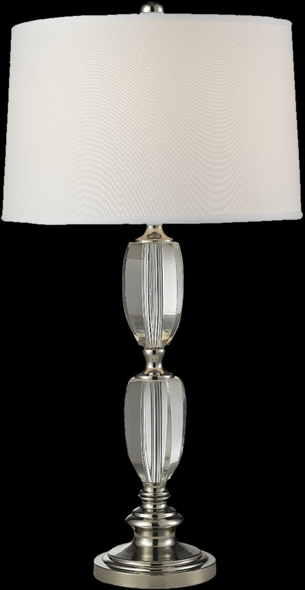 Crystal cove table lamp polished nickel