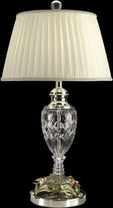 Dale Tiffany 1-Light 3-Way Crystal Table Lamp Polished Chrome GT10015