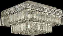 Dale Tiffany 5-Light Crystal Flush Mount Polished Chrome GH90288
