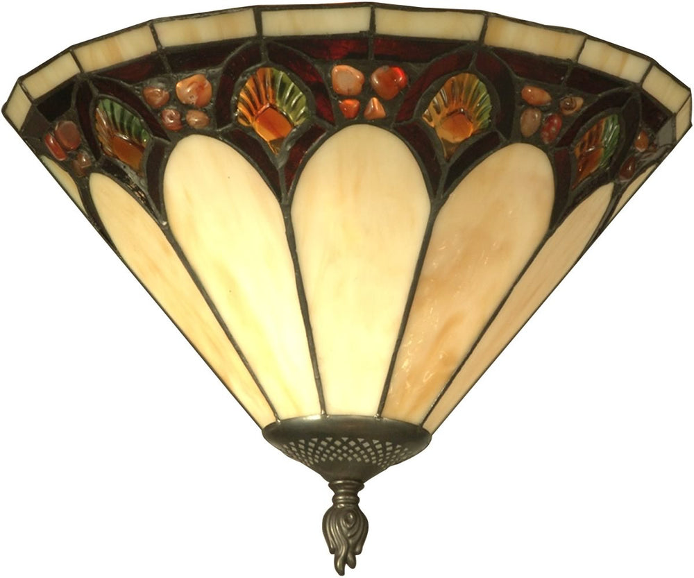 "14""w 1-Light Tiffany Wall Sconce Antique Bronze"