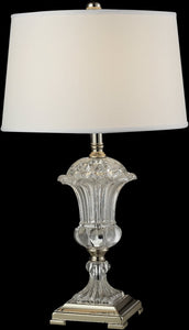 Crystal Orb Table Lamp Polished Nickel