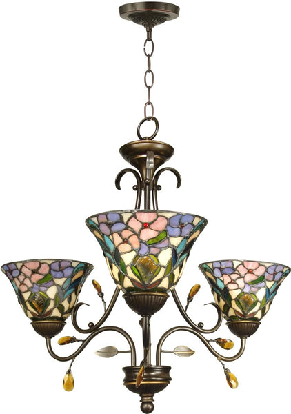 Dale Tiffany 3-Light Tiffany Hanging Fixture Antique Golden Sand TH90214