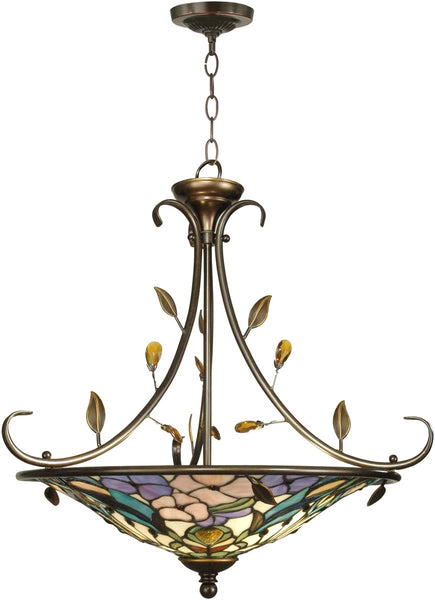 Dale Tiffany 2-Light Tiffany Hanging Fixture Antique Golden Sand TH90224