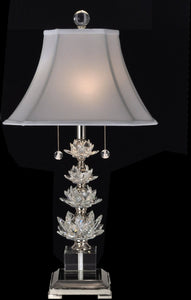 Crystal Springs Crystal Table Lamp Antique Bronze