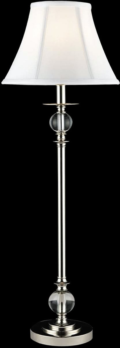 "32""H 1-Light Crystal Buffet Lamp Polished Chrome"