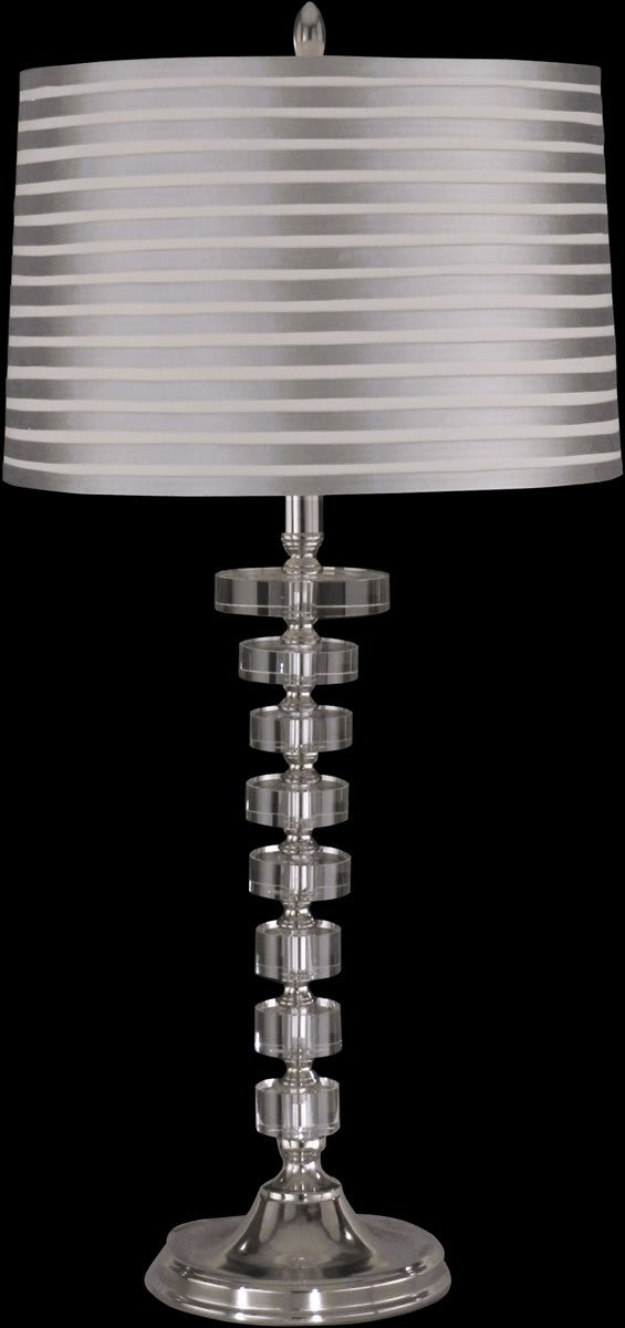 "29""H Culver Crystal 1-Light Table Lamp Nickel"