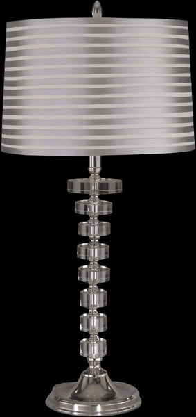 Dale Tiffany Culver Crystal 1-Light Table Lamp Nickel GT12211