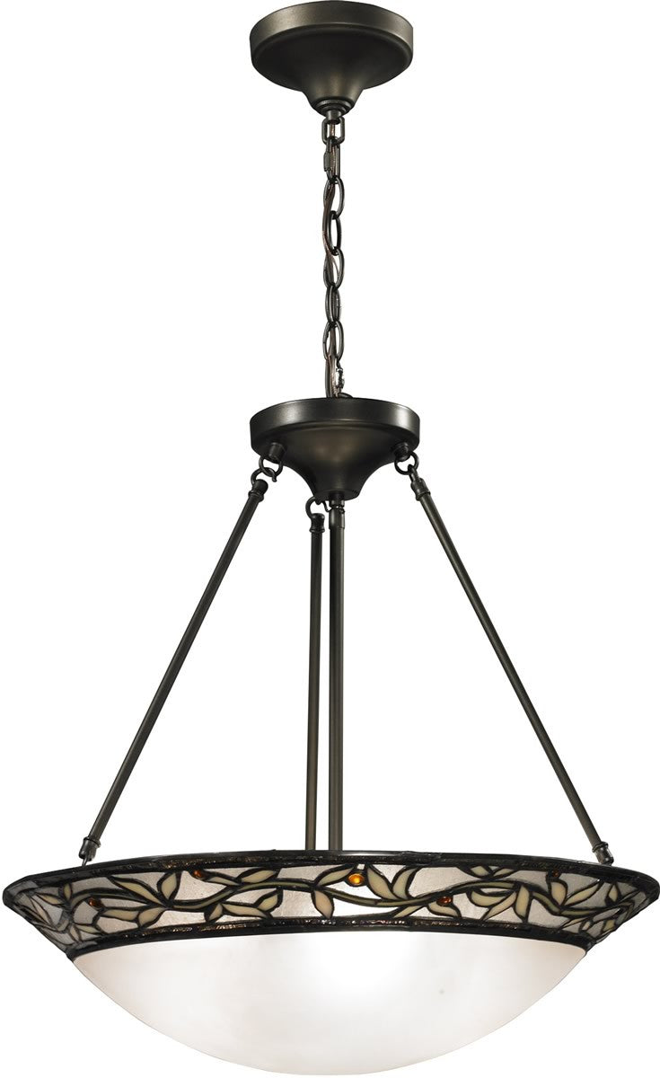 "21""w Cyprus Oaks 3-Light Pendant Dark Bronze"