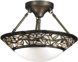 Dale Tiffany Cyprus Oaks 2-Light Pendant Dark Bronze TH12320