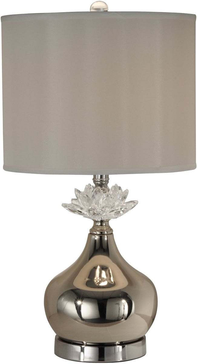 "23""h Denae 1-Light Table Lamp Satin Nickel"