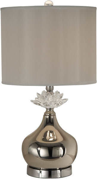 Dale Tiffany Denae 1-Light Table Lamp Satin Nickel PT12209
