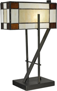 Dale Tiffany Diamond Hill 1-Light Table Lamp Dark Bronze TT12414