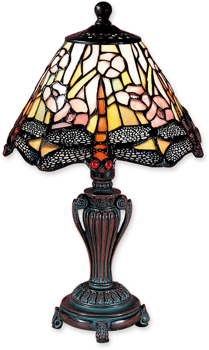 "13""h 1-Light Tiffany Accent Lamp Antique Bronze"