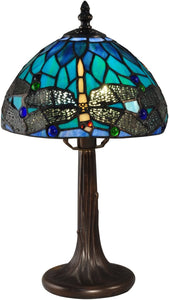 Dragonfly Tiffany Accent Lamp Antique Bronze