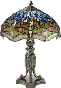 "17""h Dragonfly Table Lamp Antique Bronze"