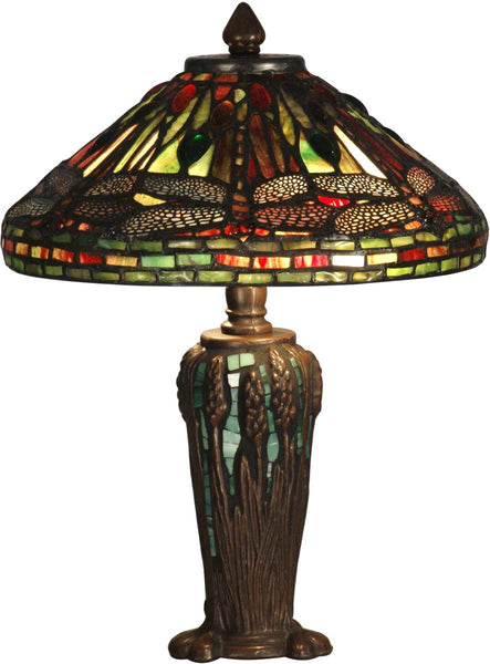 Dale Tiffany 2-Light Tiffany Table Lamp Antique Bronze TT10333