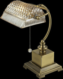 Dale Tiffany Droplet Glass Desk Lamp Antique Bronze GT14267