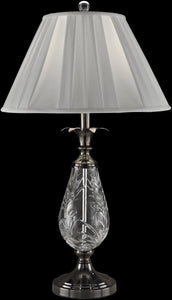 Dale Tiffany Etched Leaf Crystal Table Lamp Antique Bronze GT13264