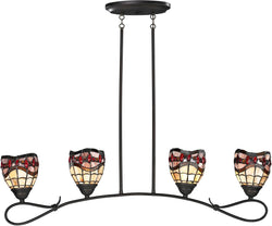 "39""w Fall River 4-Light Pendant Dark Bronze"