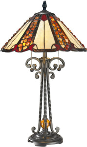 Dale Tiffany Flint River Tiffany Table Lamp Antique Bronze TT14242