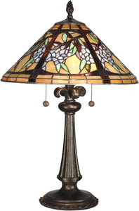 Dale Tiffany 2-Light Tiffany Table Lamp Antique Bronze TT10526