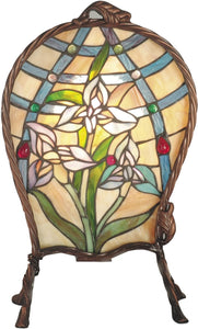 Dale Tiffany 1-Light Tiffany Accent Lamp Antique Brass TA60469