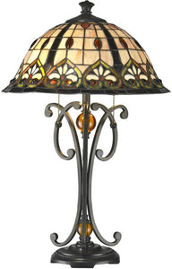 Dale Tiffany Florence Tiffany Table Lamp Antique Bronze TT14244