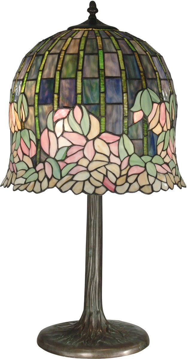 "29""h 2-Light Tiffany Table Lamp Antique Bronze"