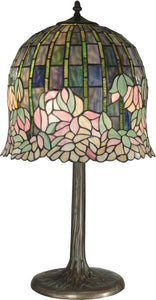 Dale Tiffany 2-Light Tiffany Table Lamp Antique Bronze TT10379