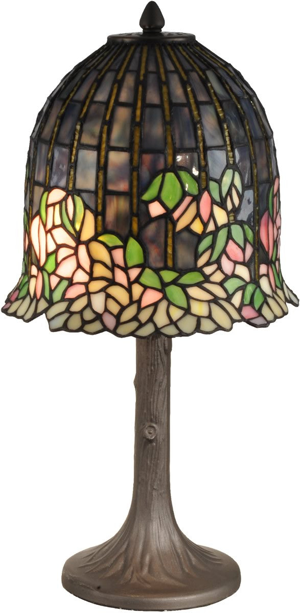 "20""H Flowering Lotus Tiffany Table Lamp Antique Bronze"
