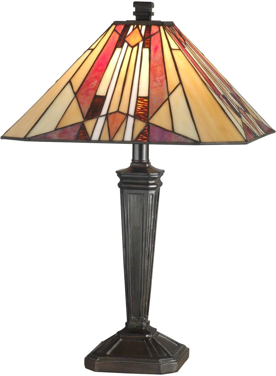 "22""h 1-Light Tiffany Table Lamp Mica Bronze"