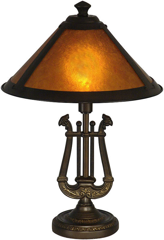 "16""h Freeport Mica Accent Lamp Antique Bronze"
