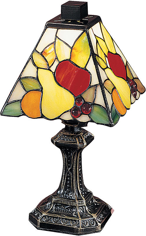 "11""H Fruit Mini Table Lamp Antique Brass"