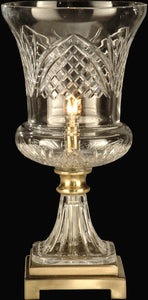 Dale Tiffany 1-Light Crystal Table Lamp Antique Brass GA60679