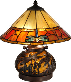 Dale Tiffany Genoa 3-Light Table Lamp Dark Antique Bronze TT13092