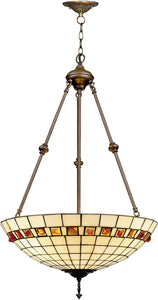 Dale Tiffany 3-Light Tiffany Hanging Fixture Antique Bronze 71903LTJ